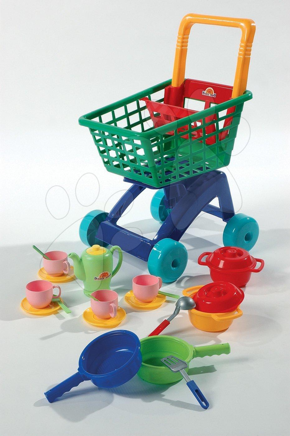 Nákupní vozík Dohány s nádobím a hrnci