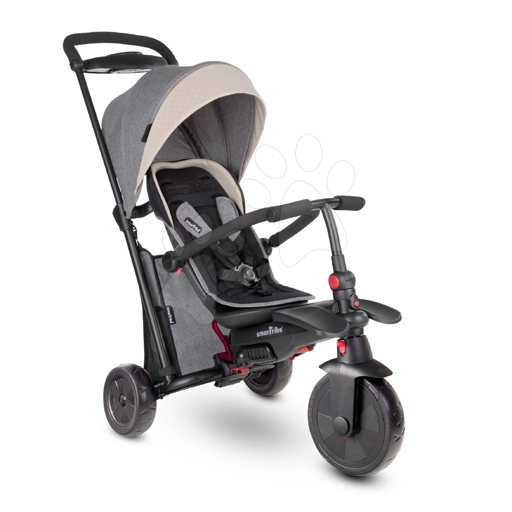 Tricicletă pliabilă smarTfold 7în1 smarTrike de lux TouchSteering căptușită cu roți EVA de la 9 luni
