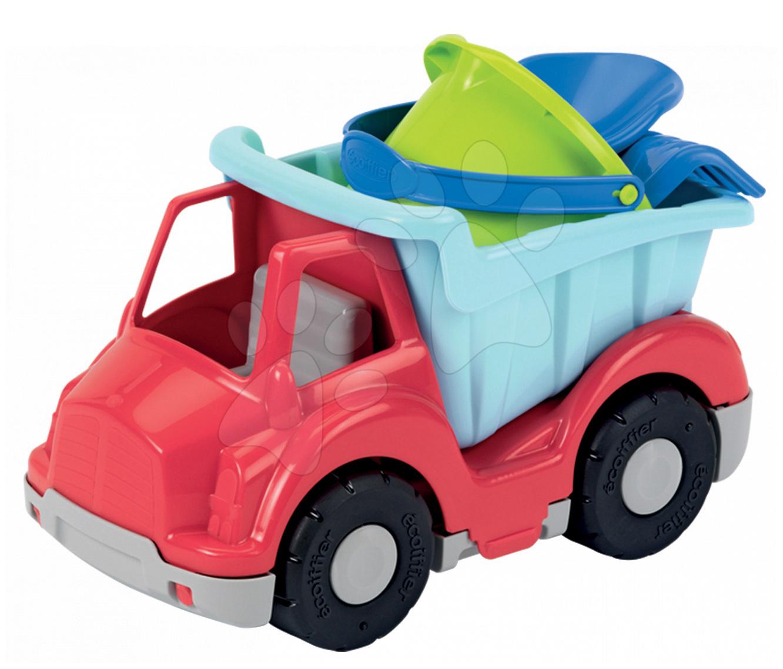 Autá do piesku - Nákladné auto s vedro setom Écoiffier (dĺžka 27 cm) červeno-modré od 18 mes