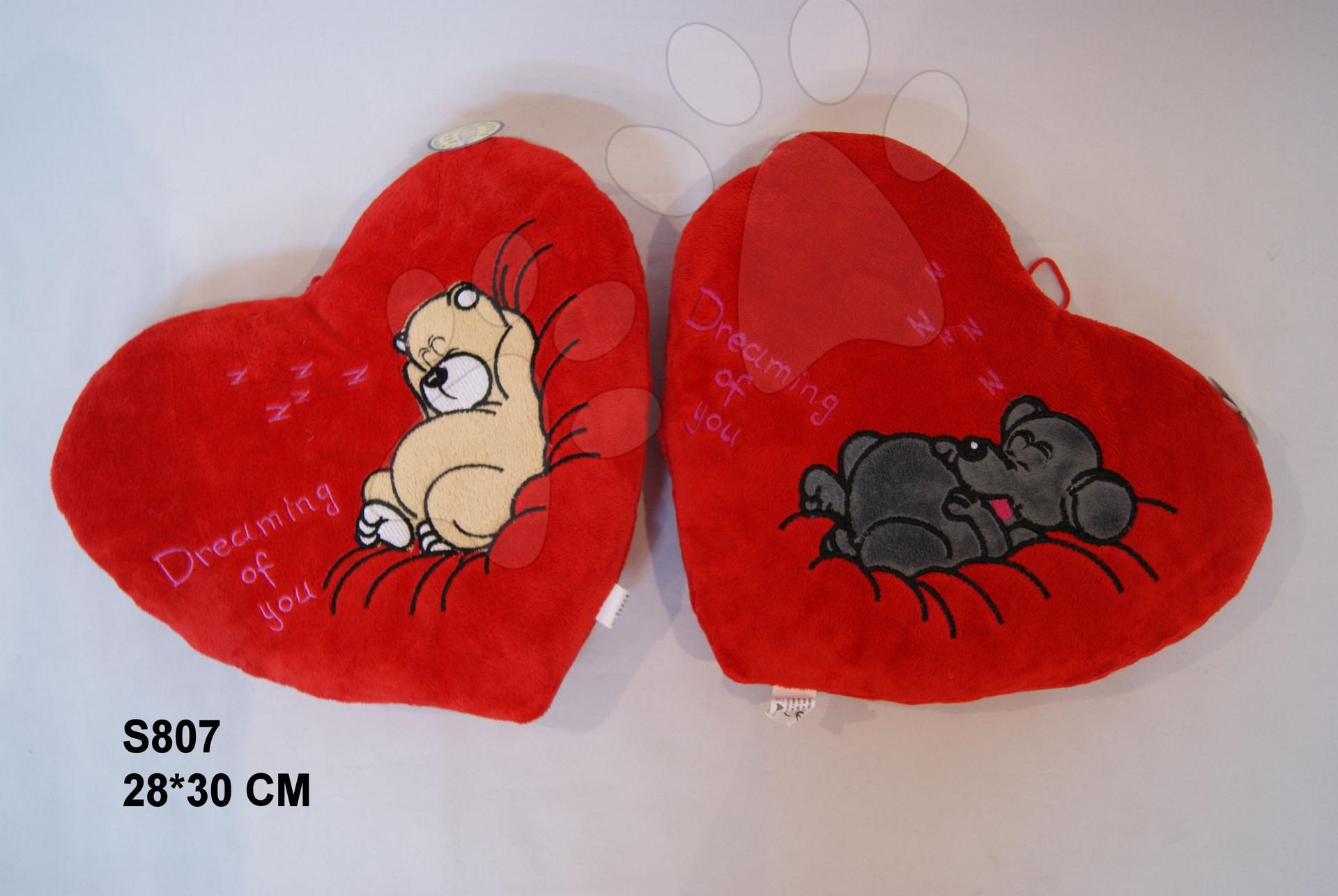 Plyšové vankúše - Srdiečko vankúšik 28*30 cm