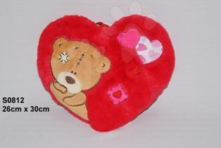 Srdíčko s medvídkem polštářek 37 cm