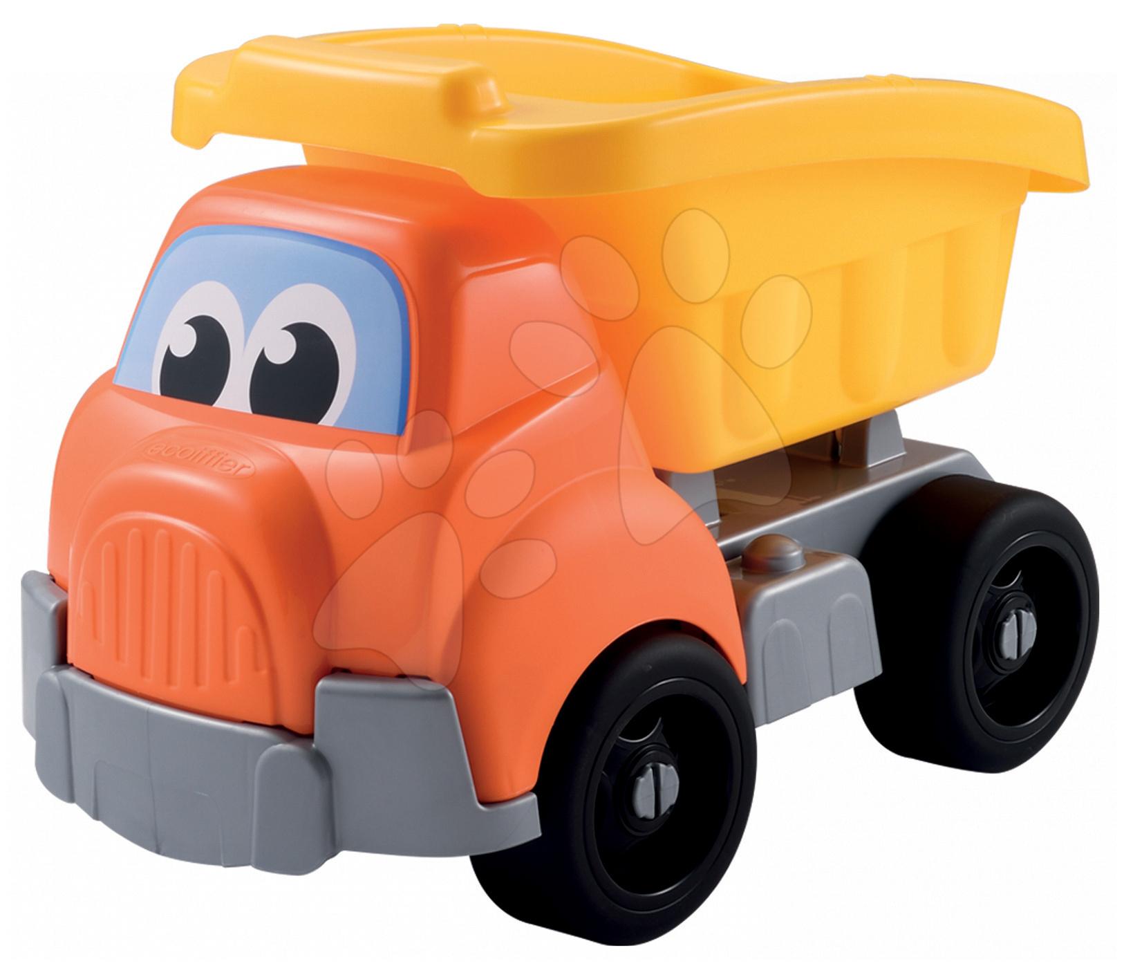 Nákladné autá - Autíčko vyklápač Écoiffier dĺžka 41 cm žlto-oranžové od 18 mes