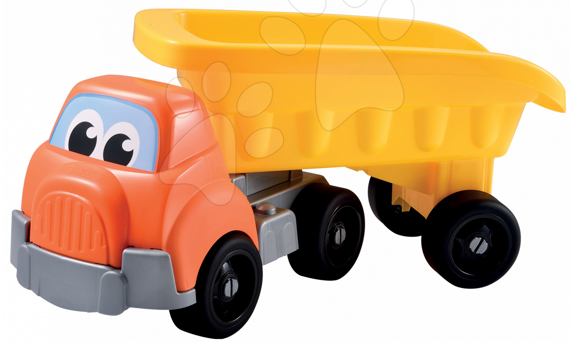 Autá do piesku - Nákladné autíčko Écoiffier dĺžka 63 cm žlto-oranžové od 18 mes