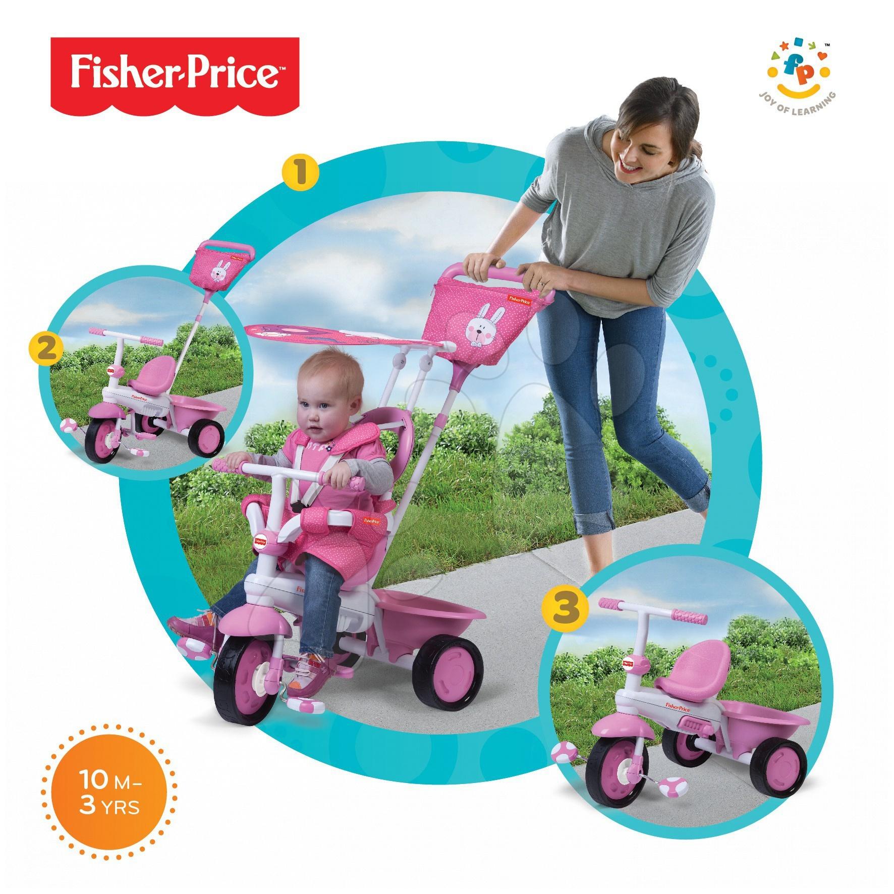 Tříkolka Fisher-Price Elite Pink smarTrike růžová od 10 měsíců