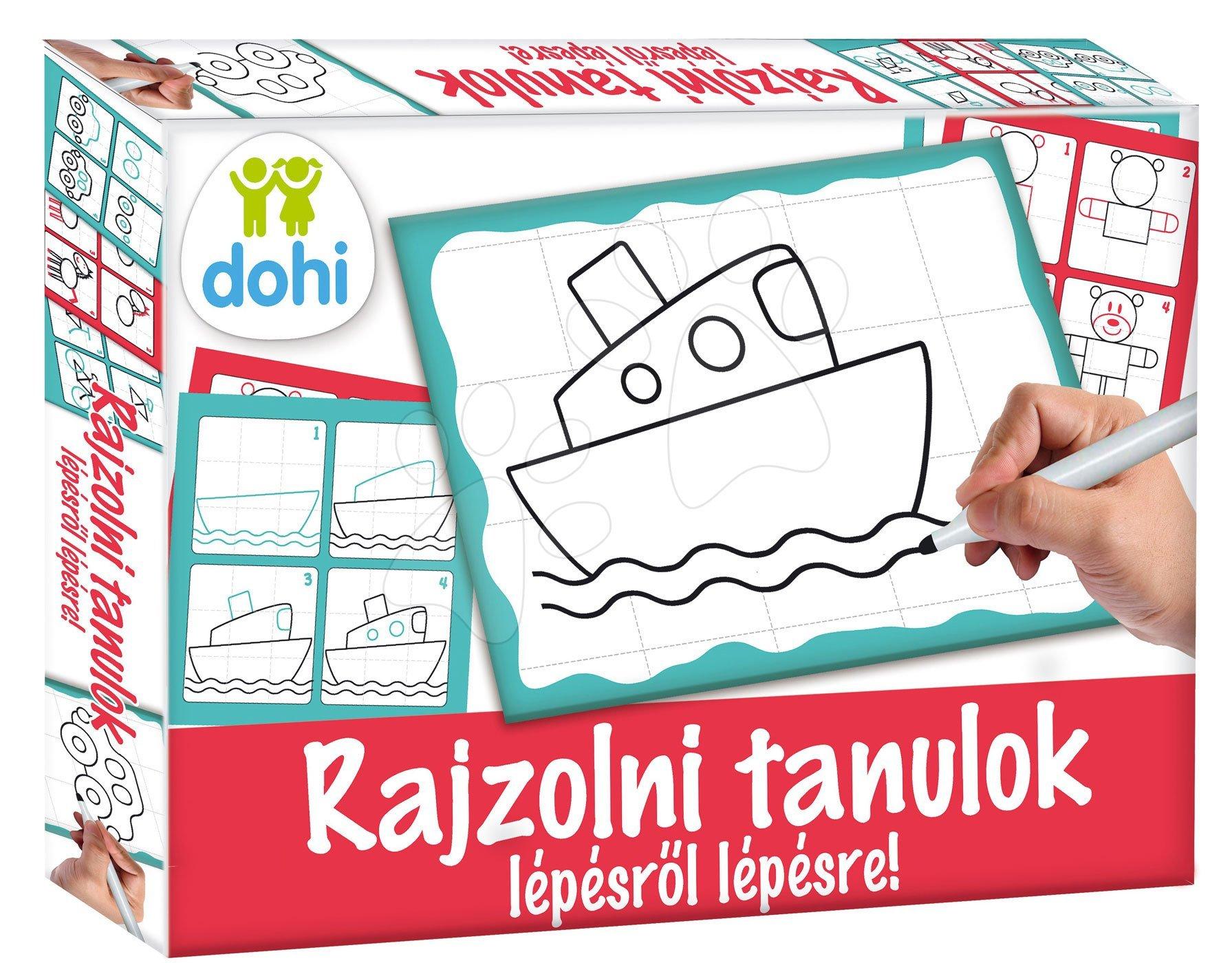 Dohány náučná hra tabuľa Kresli a zmaž Boys Učíme sa kresliť pomocou obrázkov pre chlapcov 510-1