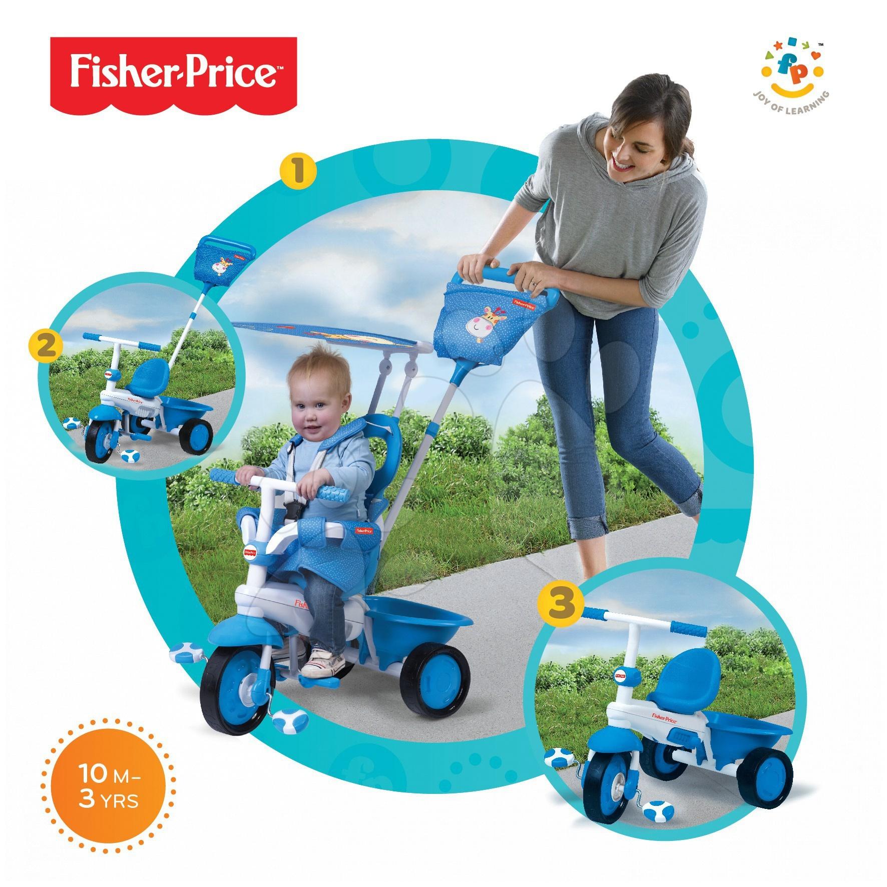 Trojkolka Fisher-Price Elite smarTrike modrá od 10 mes