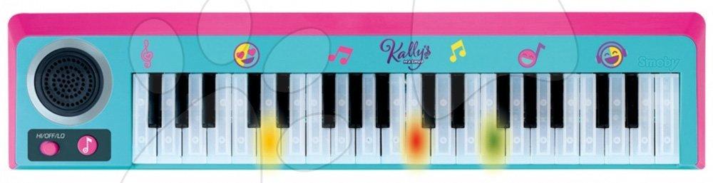 Elektronické piano s 37 klávesnicemi Kally's Mashup Nickelodeon Smoby s efekty a regulací hlasitosti od 5 let