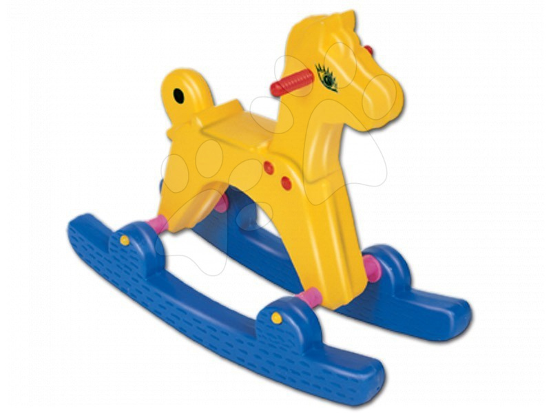 Houpací koník Dohány žluto-modrý