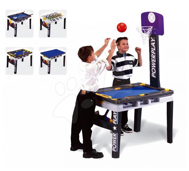 Staré položky - Multifunkčný herný stôl Power Play 5 v 1 Smoby od 8 rokov