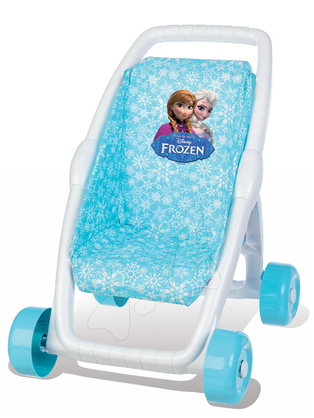 Kočíky od 18 mesiacov - Kočík pre bábiku Frozen Smoby bugina (49 cm rúčka) od 18 mes