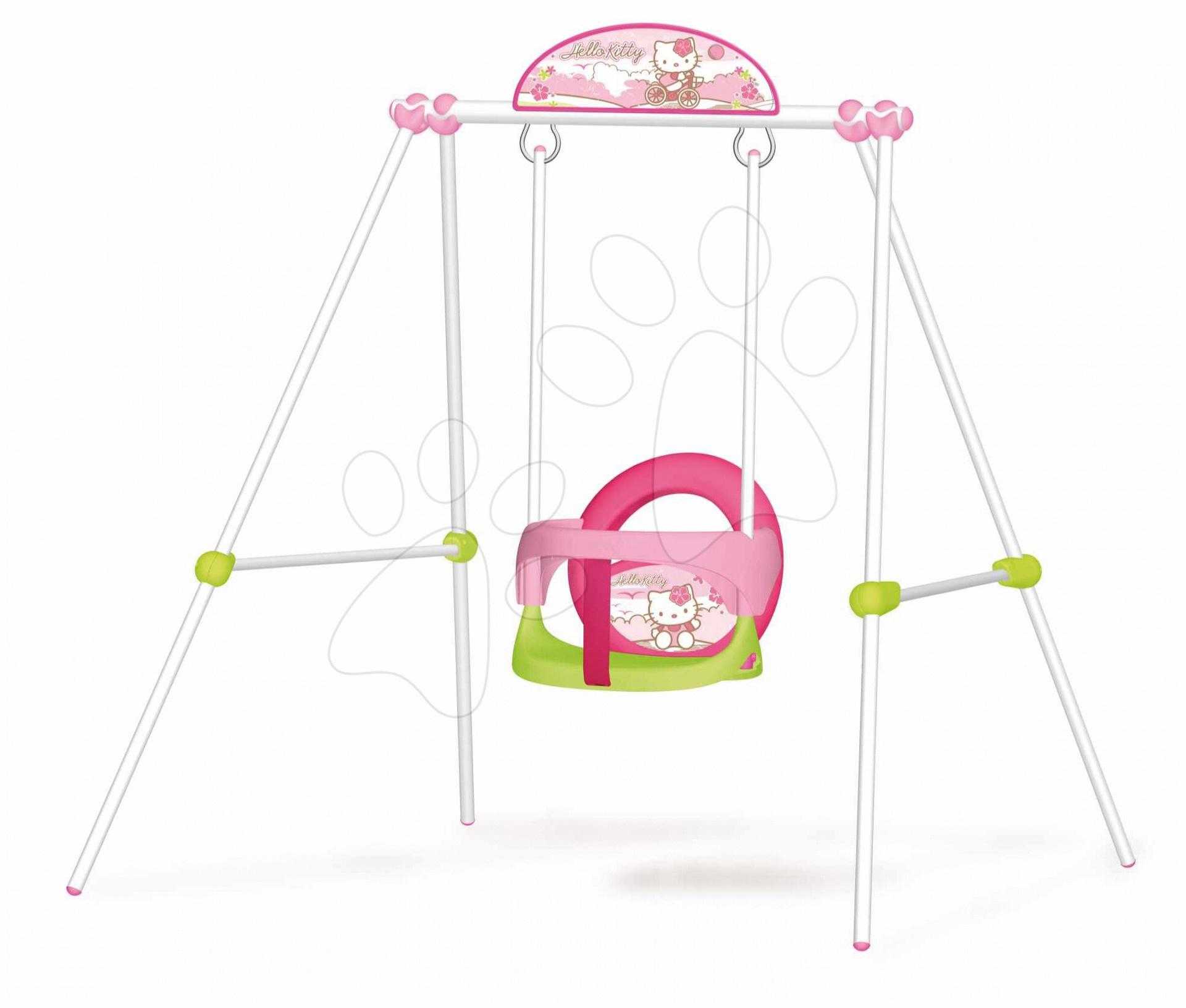 Hojdačka Portique Baby Hello Kitty Smoby s kovovou konštrukciou od 6 mes
