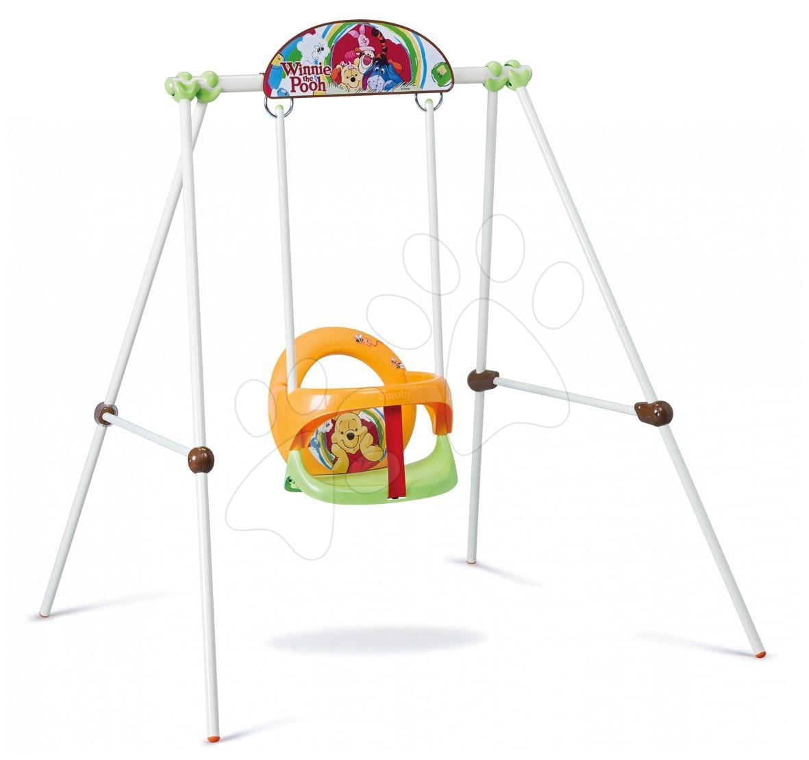 Dětské houpačky - Houpačka Medvídek Pú Baby Smoby s kovovou konstrukcí, s Uvfiltrem od 6 měsíců