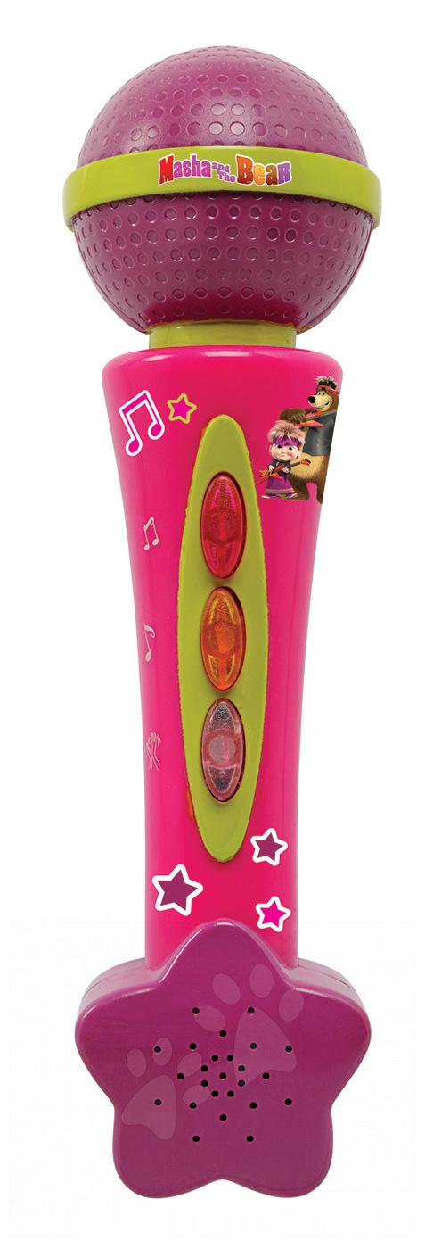 Hudební mikrofon Máša Smoby elektronický růžový