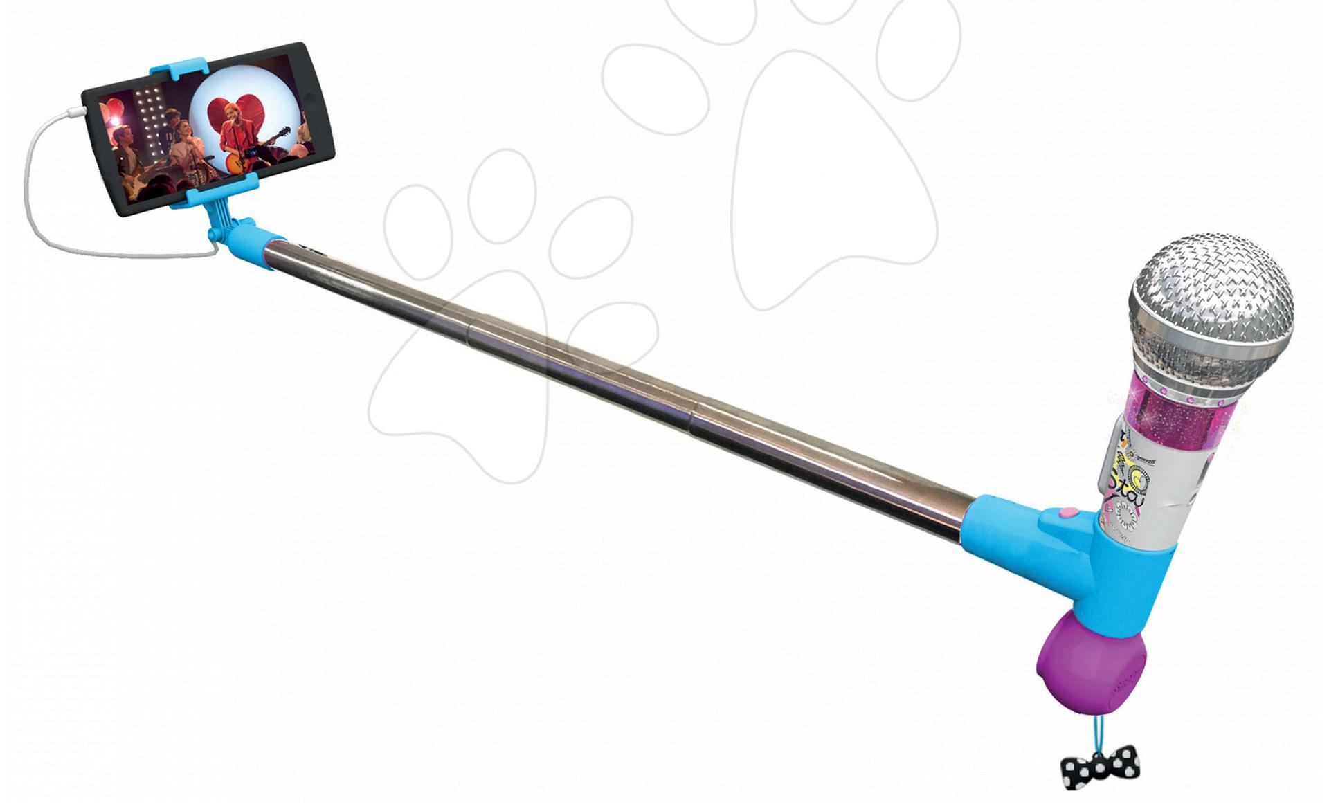 Mikrofón Selfie Maggie&Bianca Smoby so zvukmi a svetlom a napojením na mobil od 7 rokov