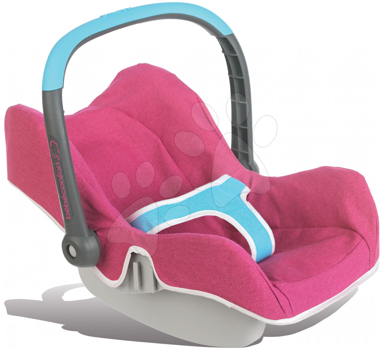 Smoby detská autosedačka Maxi Cosi & Quinny pre bábiku 520490 ružovo-modrá