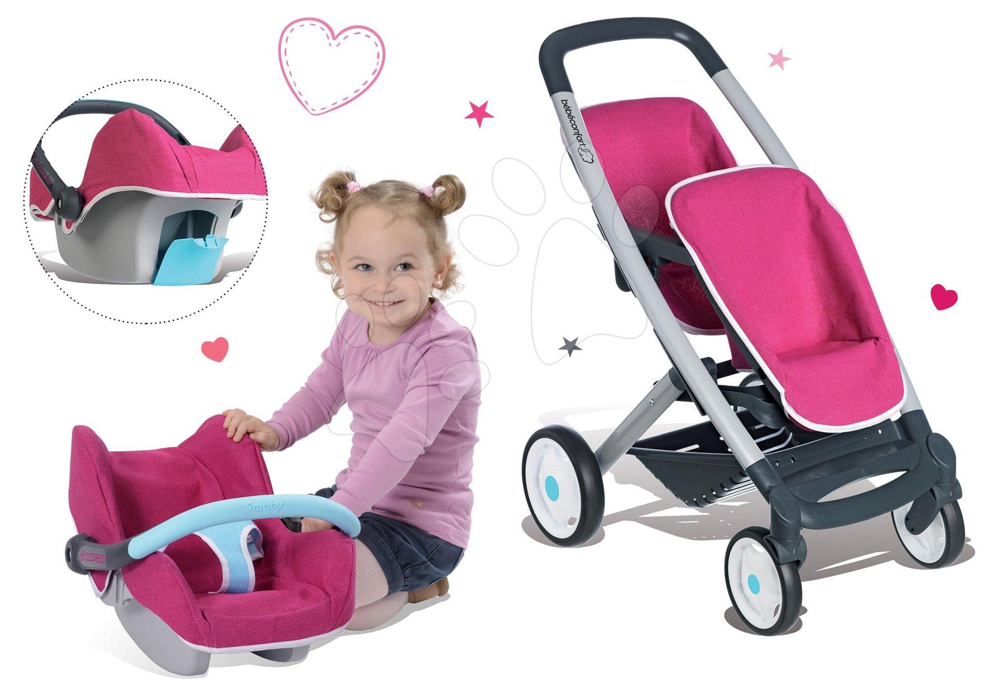 Smoby kočík pre dvojičky Maxi Cosi & Quinny a autosedačka 521590-3