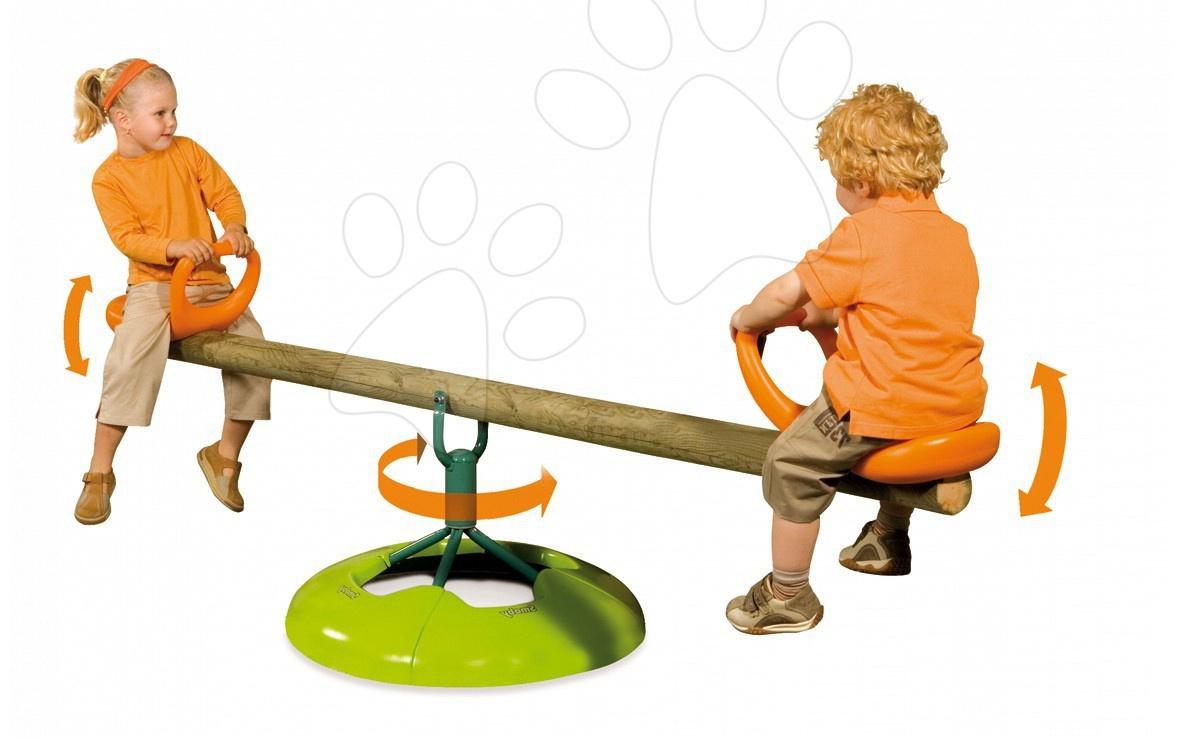 Balansoar din lemn 360 ° Smoby cu două părți