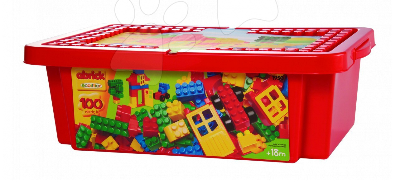 Építőkocka dobozban Abrick Écoiffier 100db 18 hó-tól