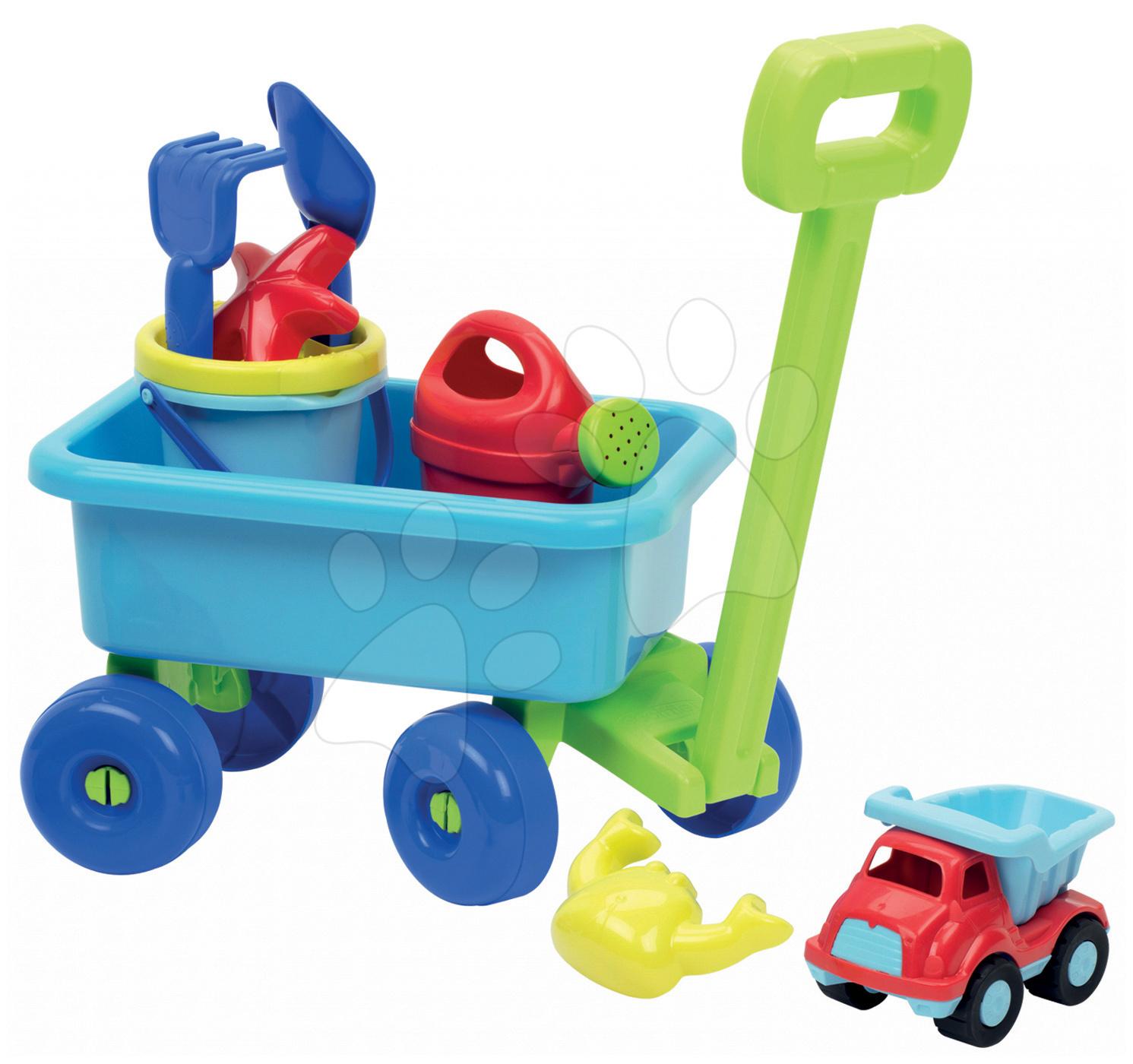 Vozík na tahání Écoiffier s kbelík setem a konvičkou od 18 měsíců