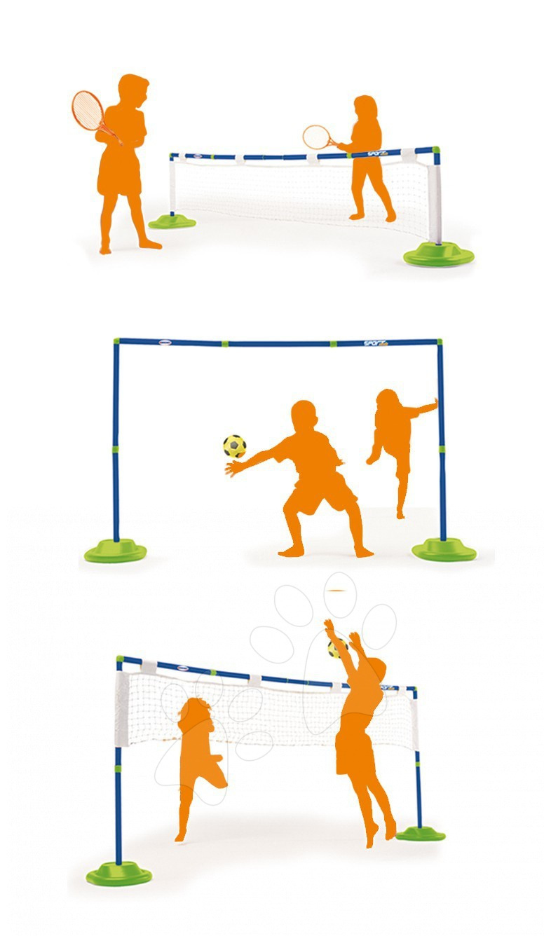 Smoby 330068 Športový set - tenis, futbal, volejbal a doplnky