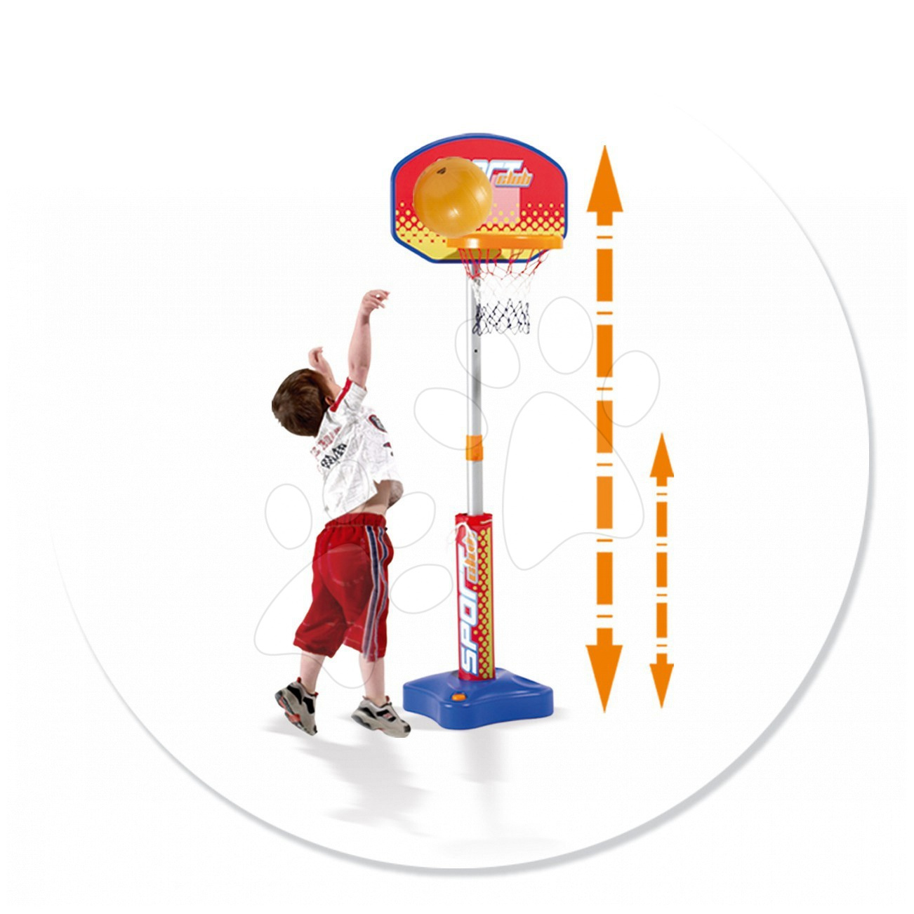 Športový set Smoby nastaviteľný basketbal
