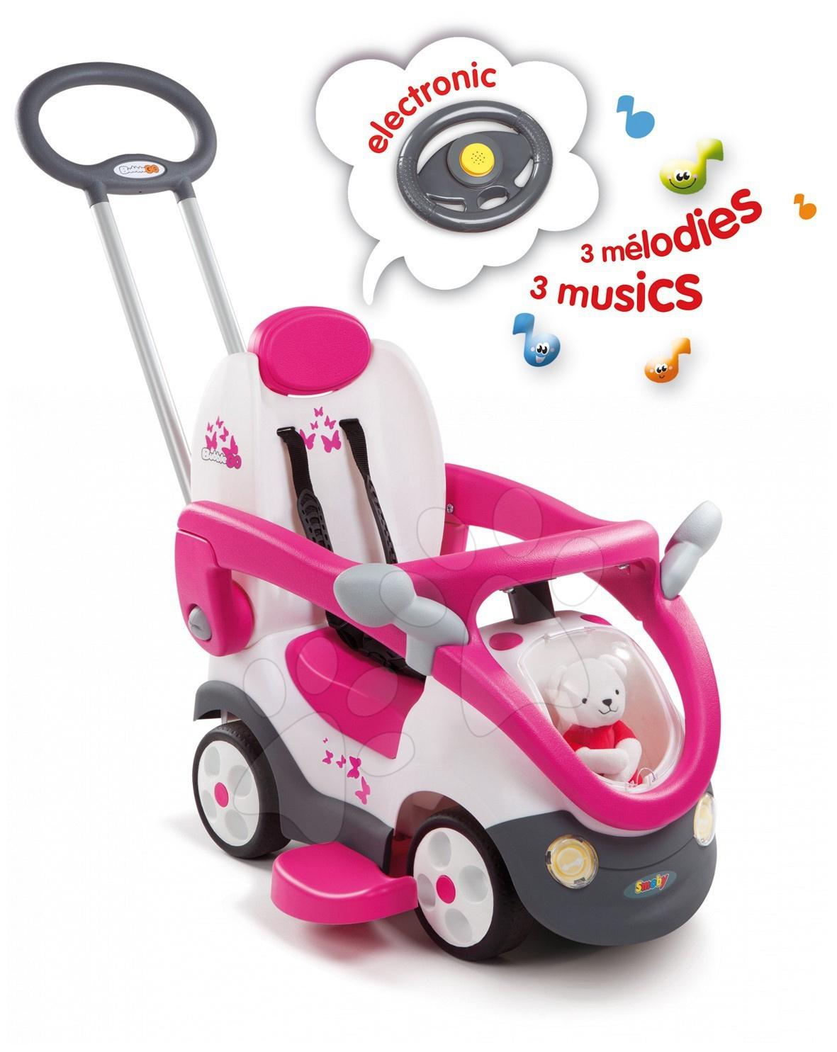 Odrážadlo Bubble Go II Balade Fille Smoby so zvukom Girl ružové od 6 mes