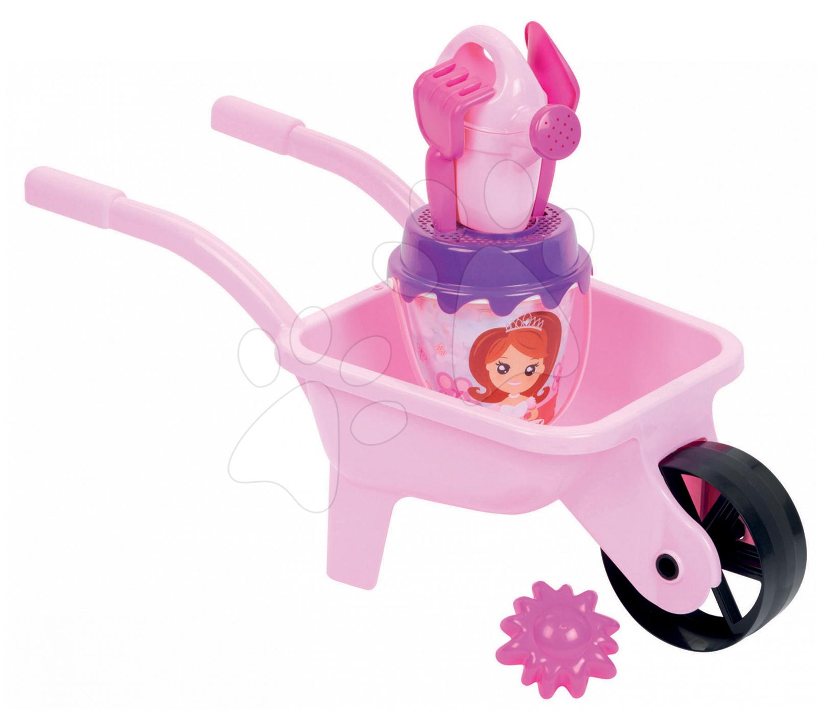 Kolečko do písku Princezna Écoiffier s kbelík setem růžový od 18 měsíců