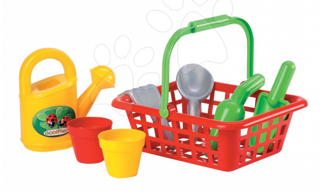 Hry na zahradníka - Zahradnická souprava Écoiffier v košíku