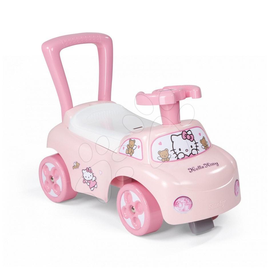 Odrážadlo a chodítko Hello Kitty Smoby Auto 2v1 ružové od 10 mes