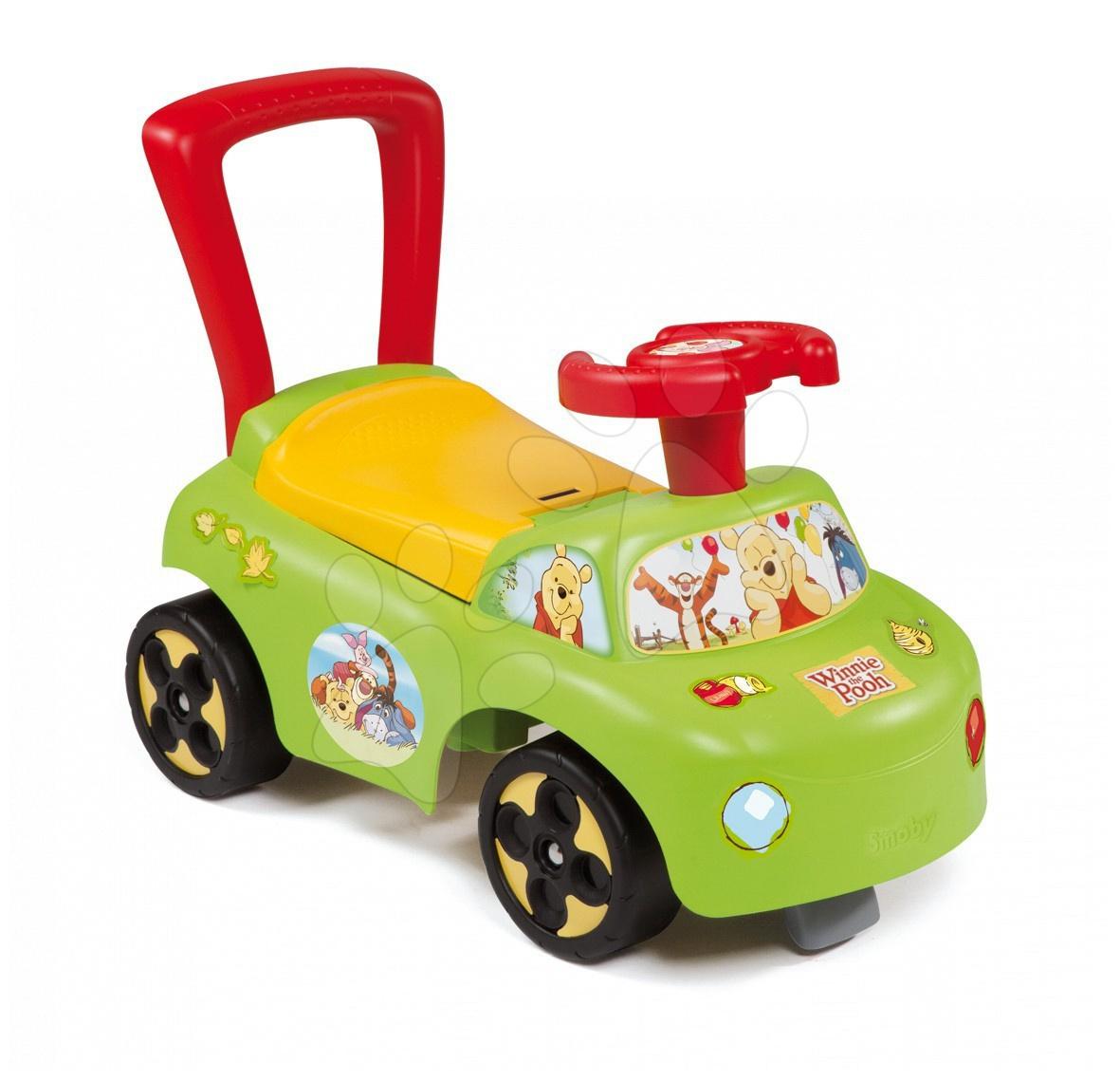 Produse vechi - Babytaxiu Winnie The Pooh Auto 2in1 Smoby verde de la 10 luni