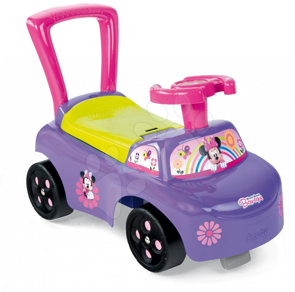 Staré položky - Auto odrážadlo Minnie Smoby fialové od 10 mes