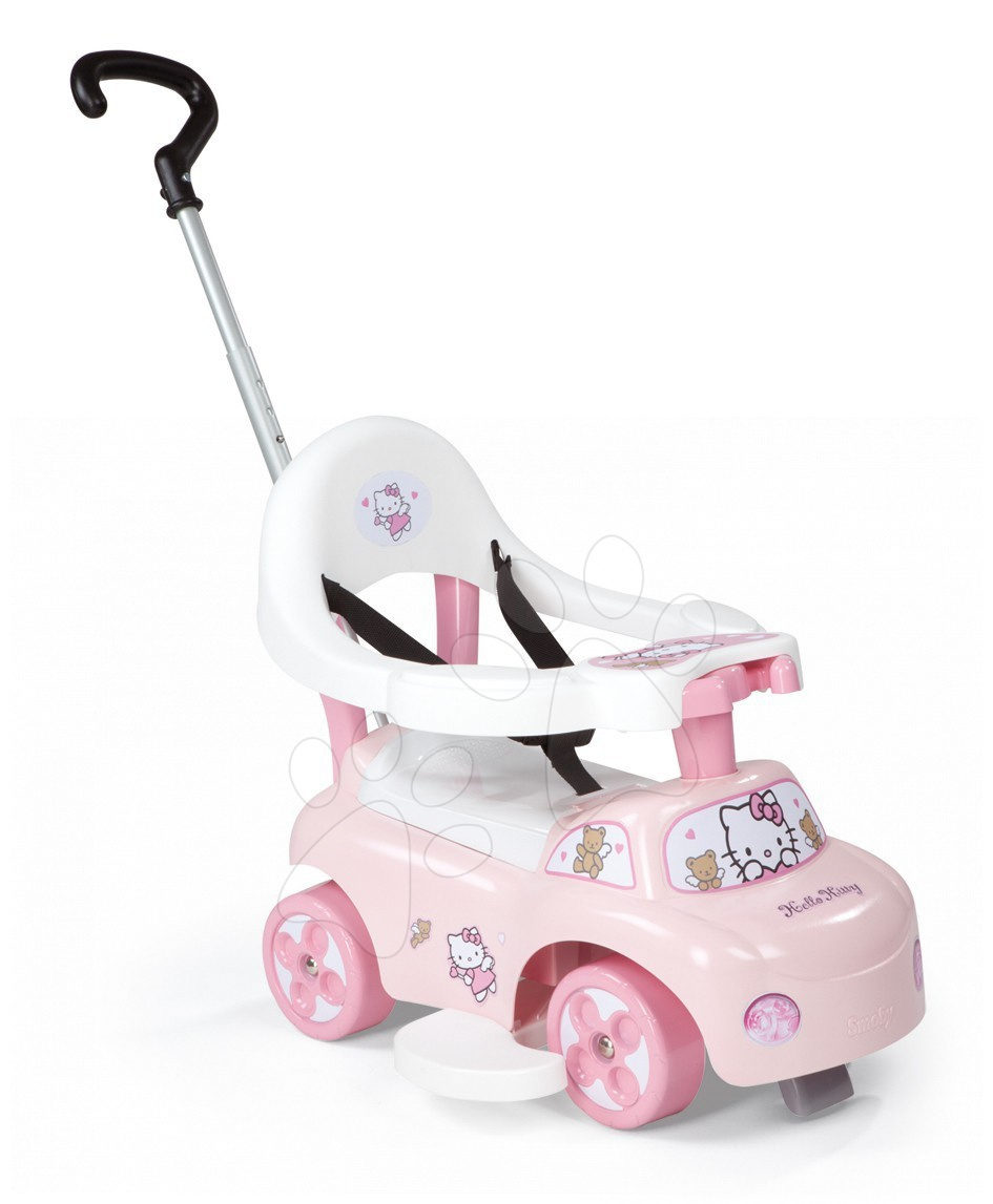 Odrážadlo a chodítko Hello Kitty Smoby Auto 2v1 ružové od 6 mes