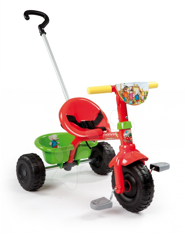 Stari vnosi - Smoby 444151 Be Fun Babar tricikel s vodiacou tyčou , 71*50*54,7 cm od 15 mes