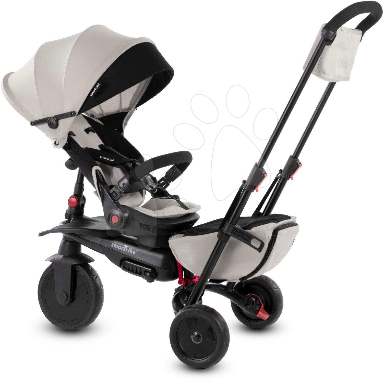 Tricicletă pliabilă smarTfold 700 S Warm Grey 8în1 smarTrike gri-bej cu scaun rabatabil și înclinabil TouchSteering cu roți EVA de la 6 luni