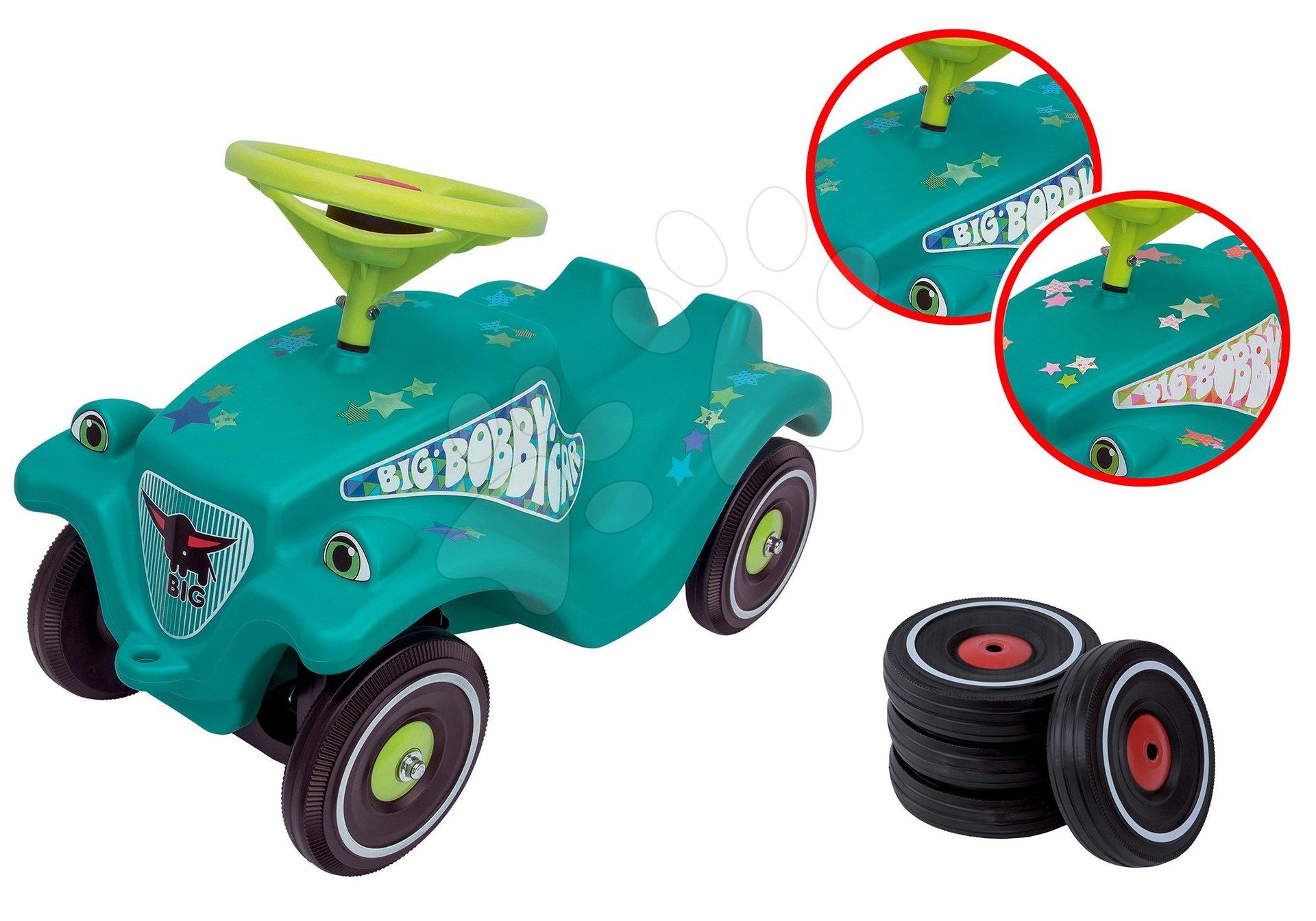 BIG set odrážadlo autíčko Little Star Car Classic s klaksónom a náhradné kolesá s tichým chodom 56108-1