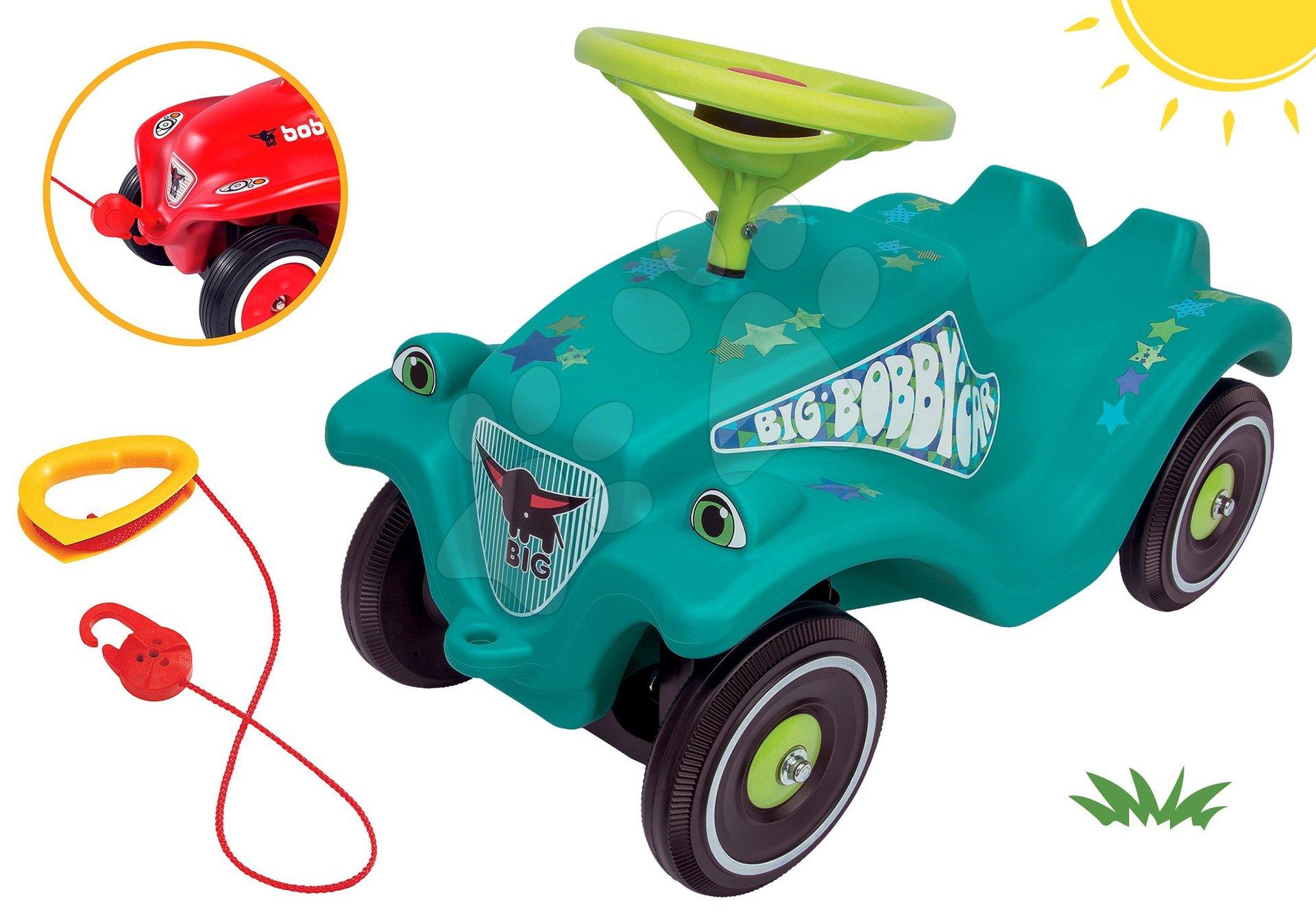 BIG set odrážadlo autíčko Little Star Car Classic tyrkysové a ťažné lano s hákom ako darček 56108-4
