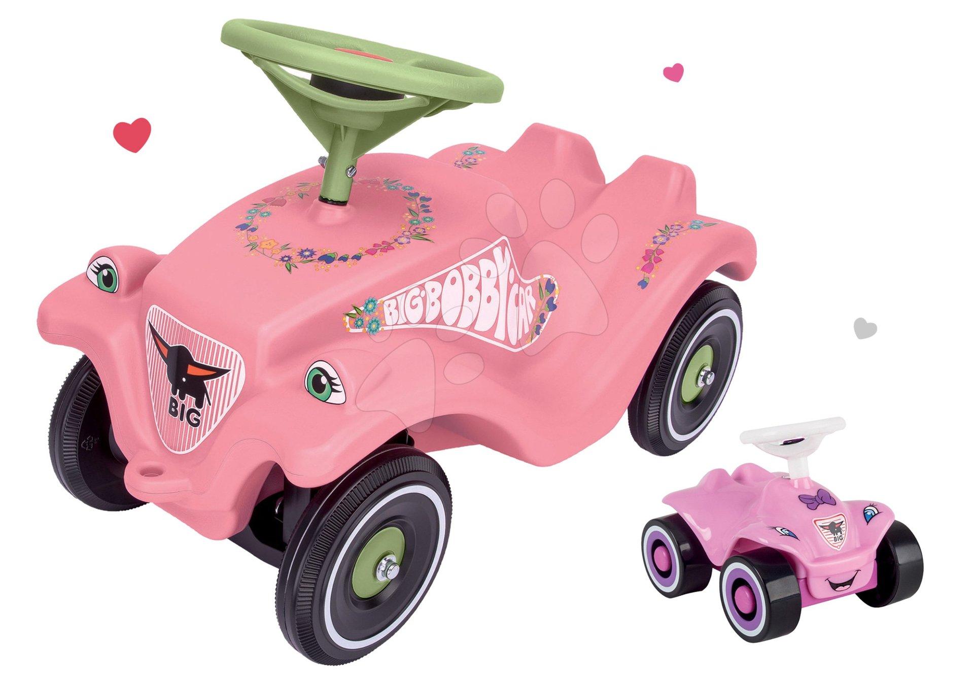 BIG odrážedlo pro děti Bobby Classic Girlie a skládací auto Mini Bobby 5602