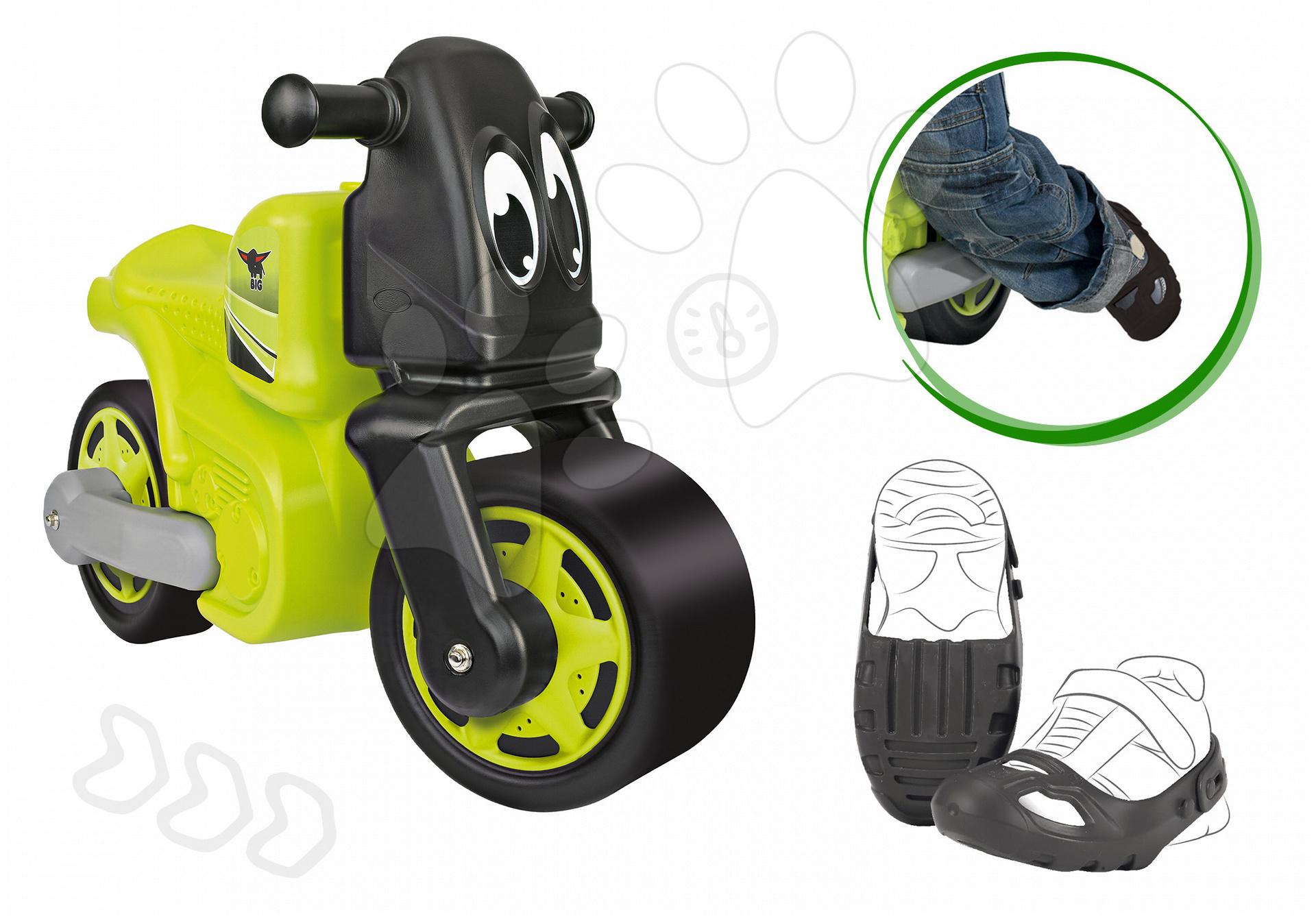 Odrážedlo motorka Racing Bike BIG a ochranné návleky na boty velikost 21-27 od 18 měsíců