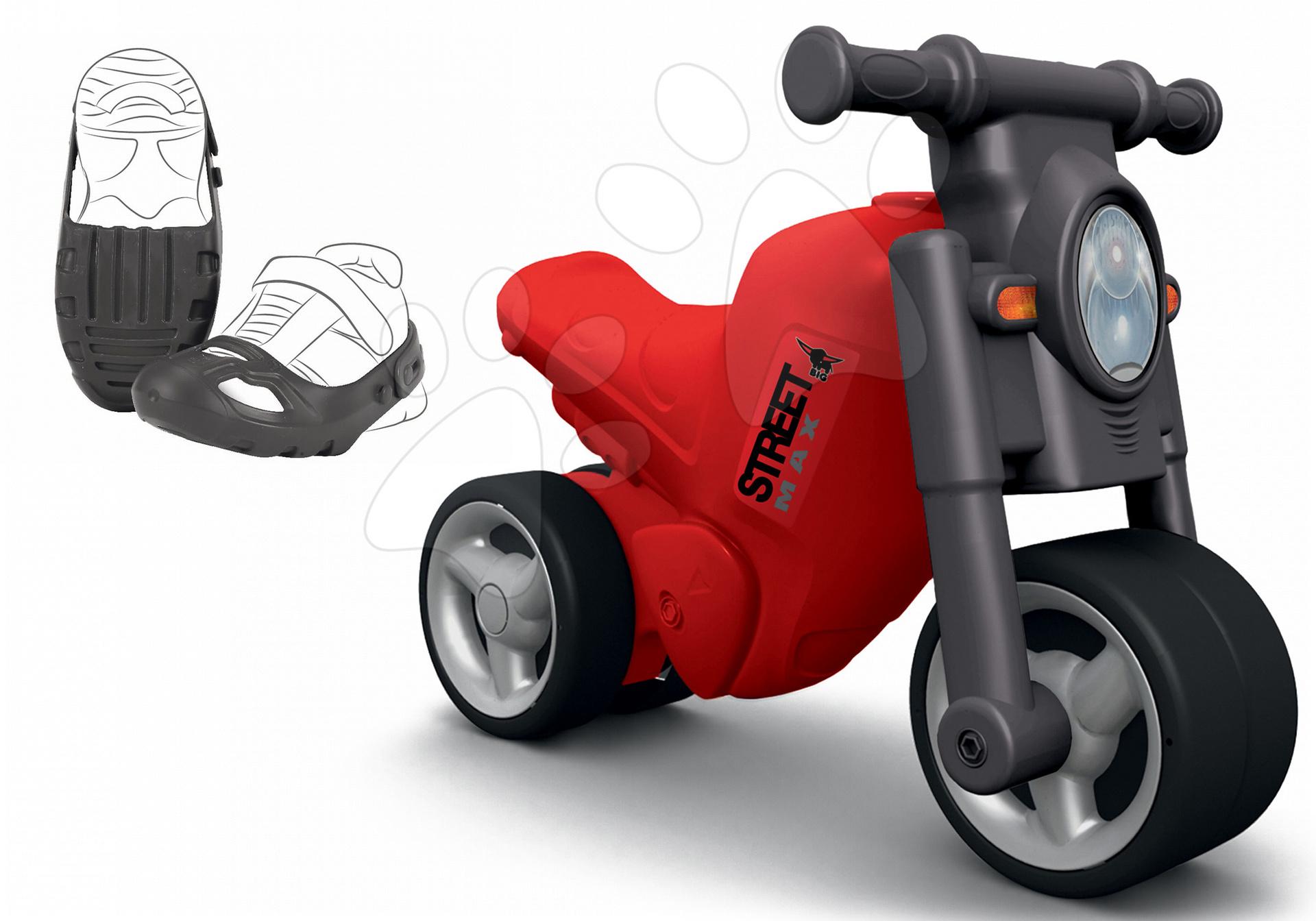 Odrážedlo motorka Street Bike BIG a ochranné návleky na boty Shoe-Care BIG od 18 měsíců