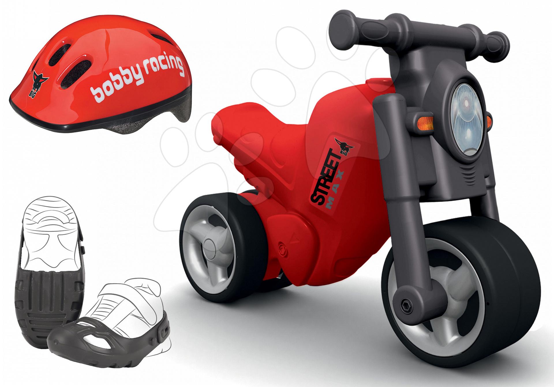 Set odrážedlo Street Bike BIG ochranné návleky na boty a přilba BIG od 18 měsíců