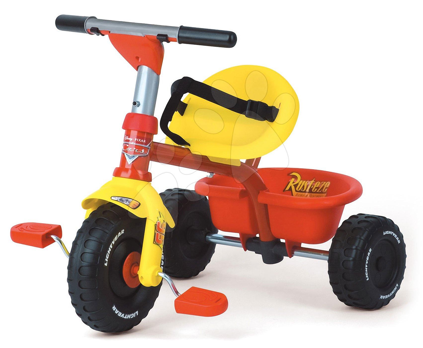 Tricikli Disney Verdák Smoby piros-sárga 15 hó-tól