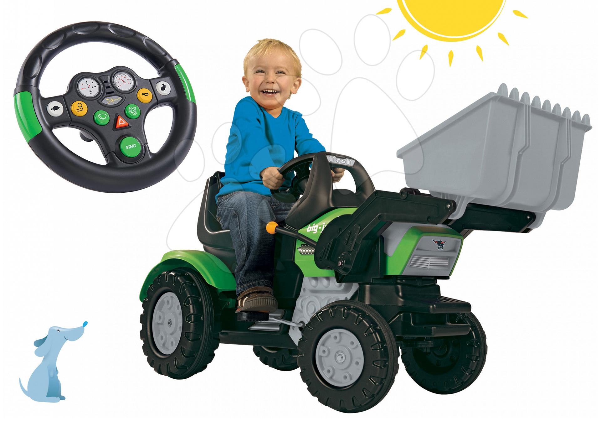 Set traktor Maxi John XL BIG s nakladačom a interaktívny volant so zvukom