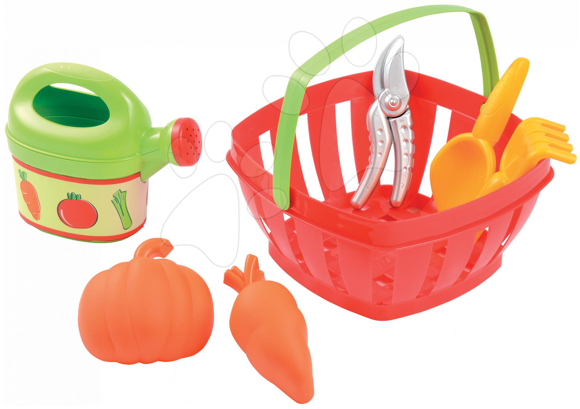 Hry na záhradníka - Košík Écoiffier s náradím do záhrady od 18 mes