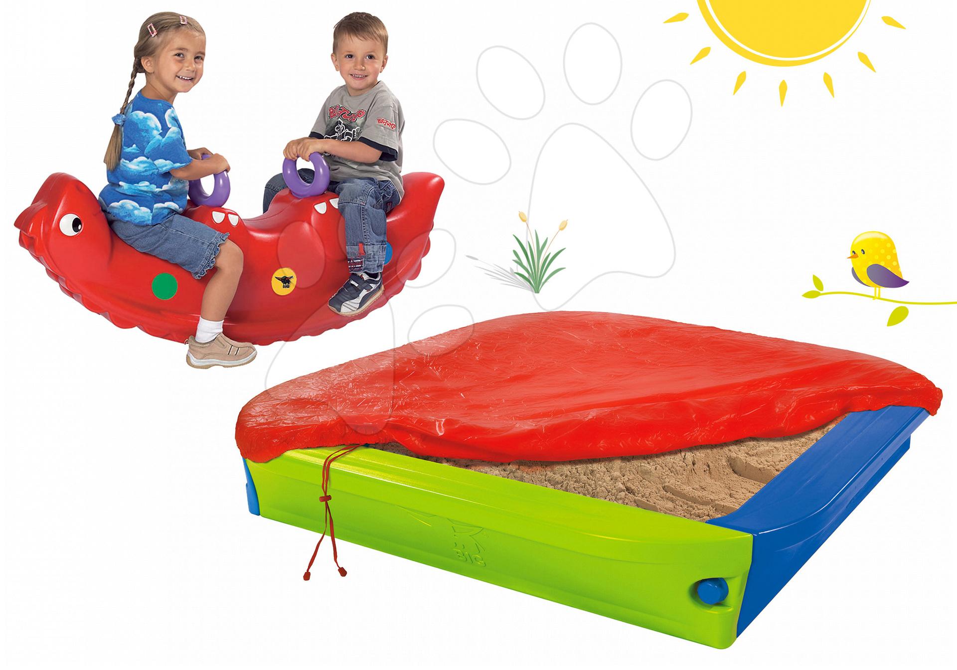 BIG set detské pieskovisko a hojdačka dinosaurus Sammy 56726-1