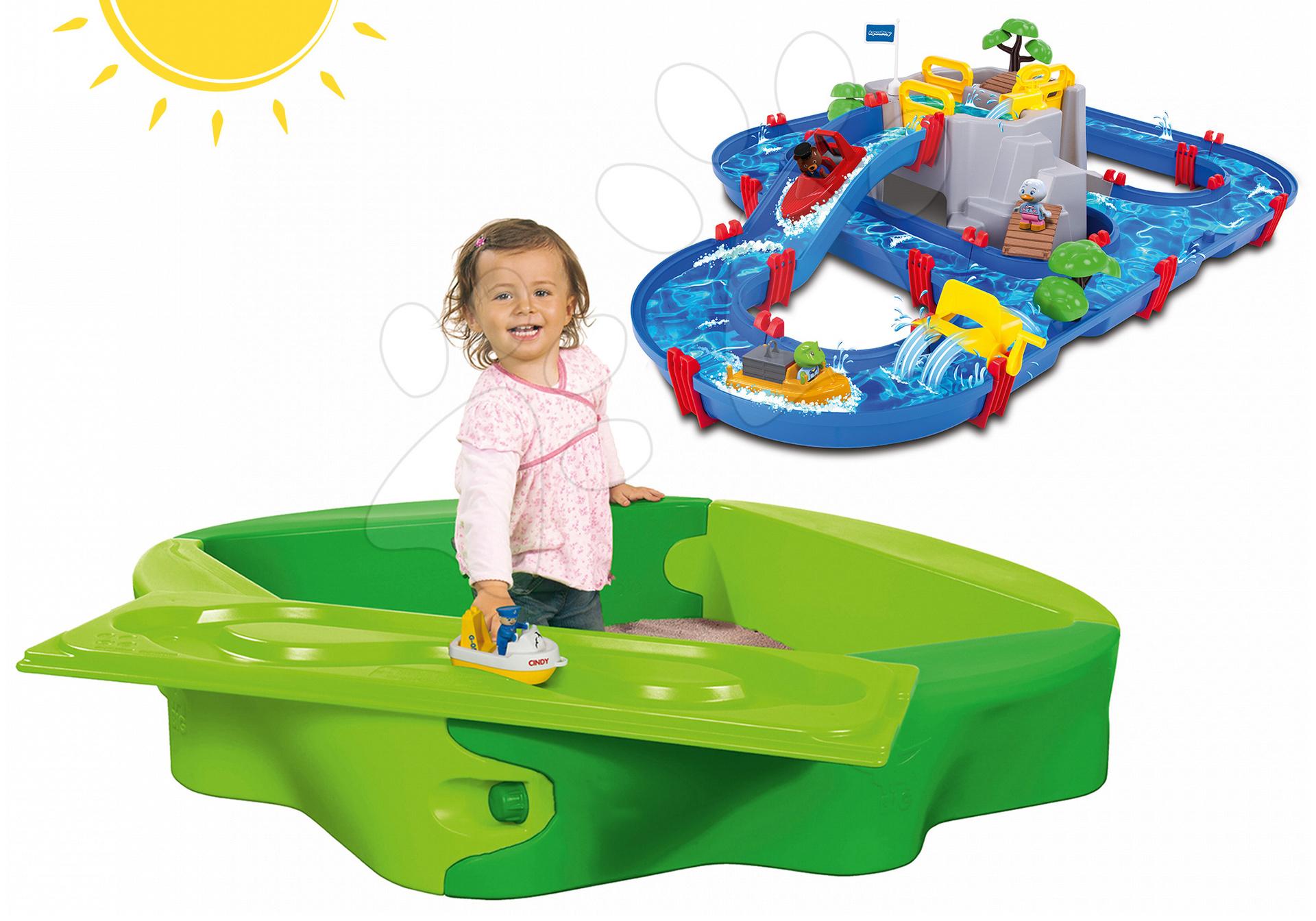 Dětské pískoviště BIG a vodní dráha AquaPlay 56733-2 zelená