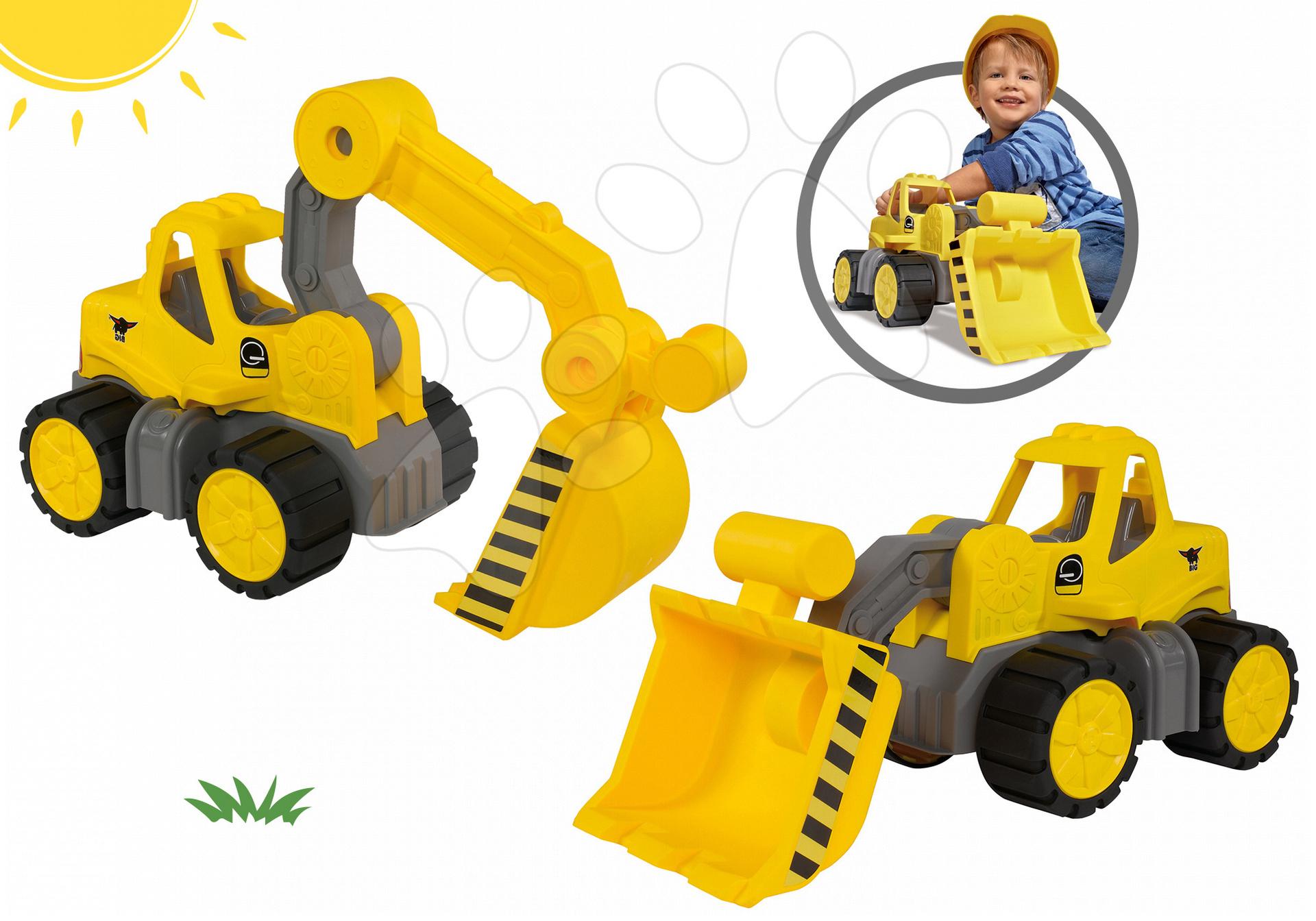 Set nákladné auto Power BIG a bager Power BIG žlté