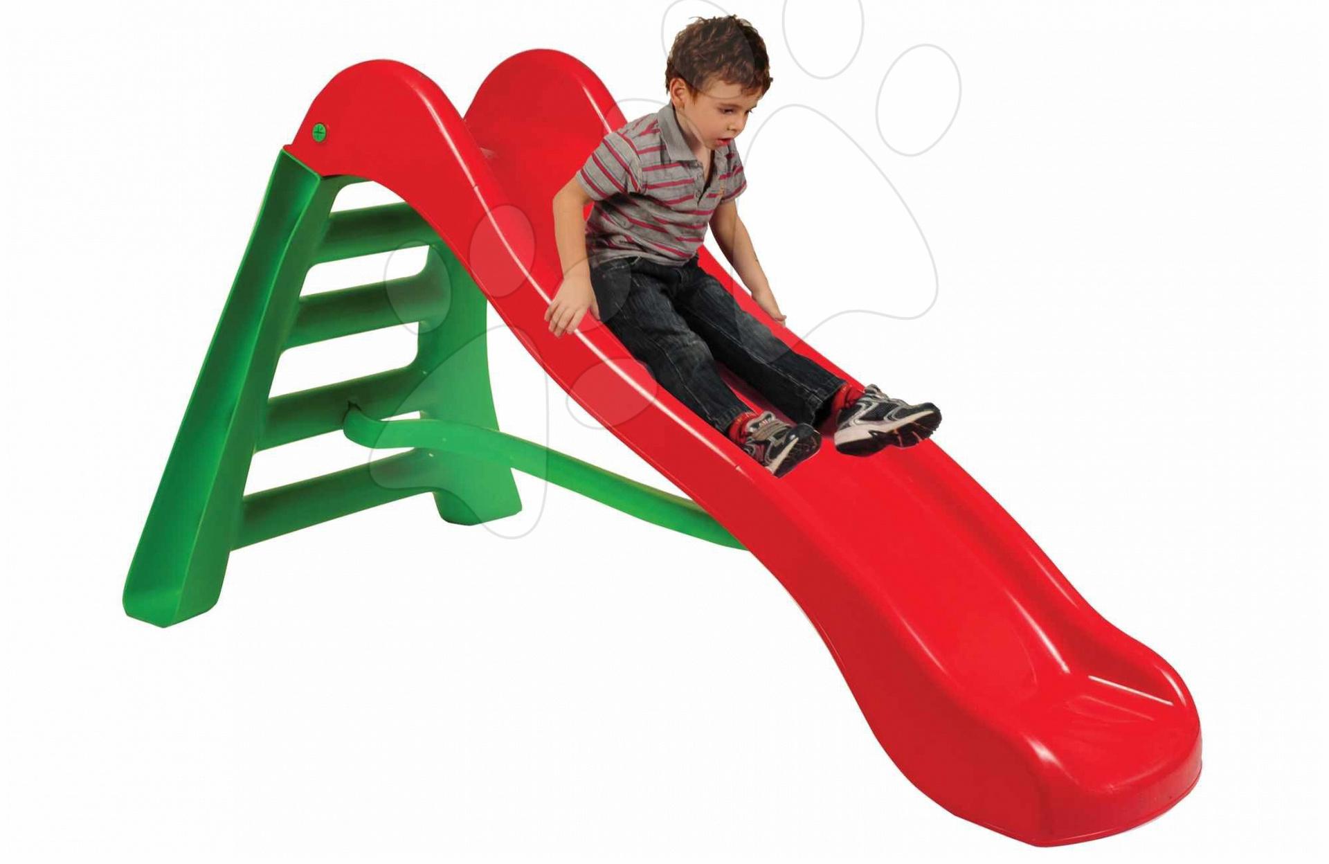 Tobogane pentru copii - Tobogan Starplast cu lungime de 2 m roşu-verde