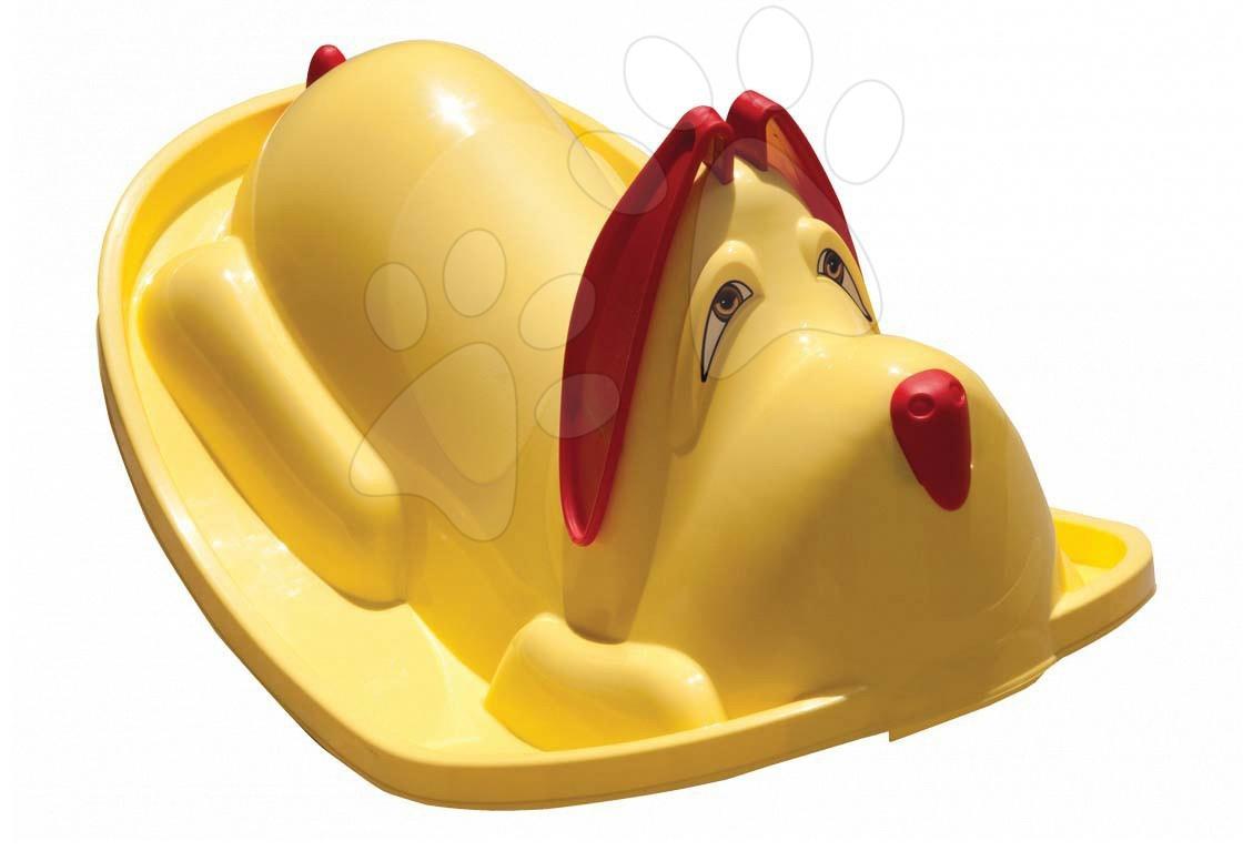 Houpačka Pes Starplast žlutá od 24 měsíců