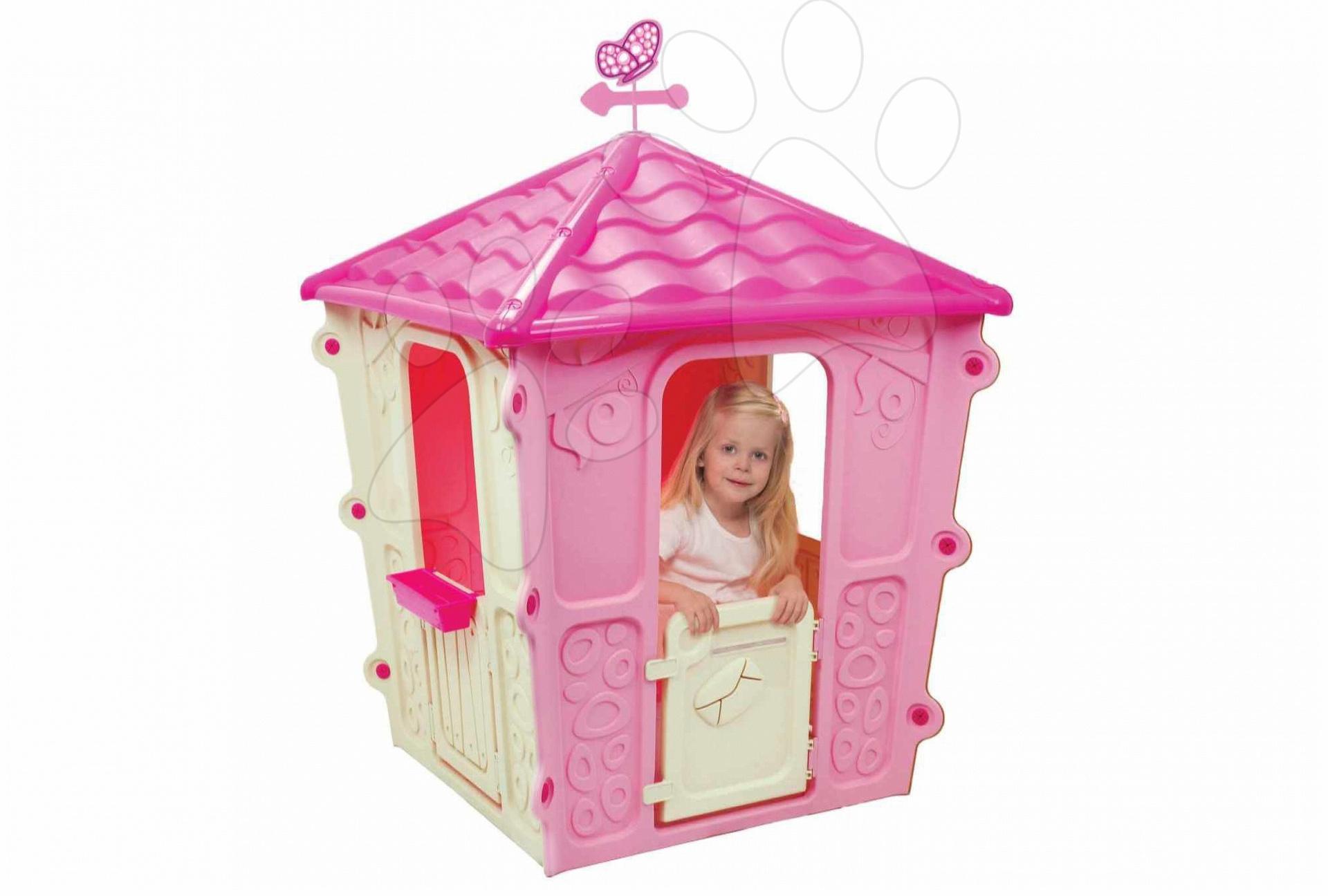 Domček Square Starplast s motýľom ružový od 24 mes