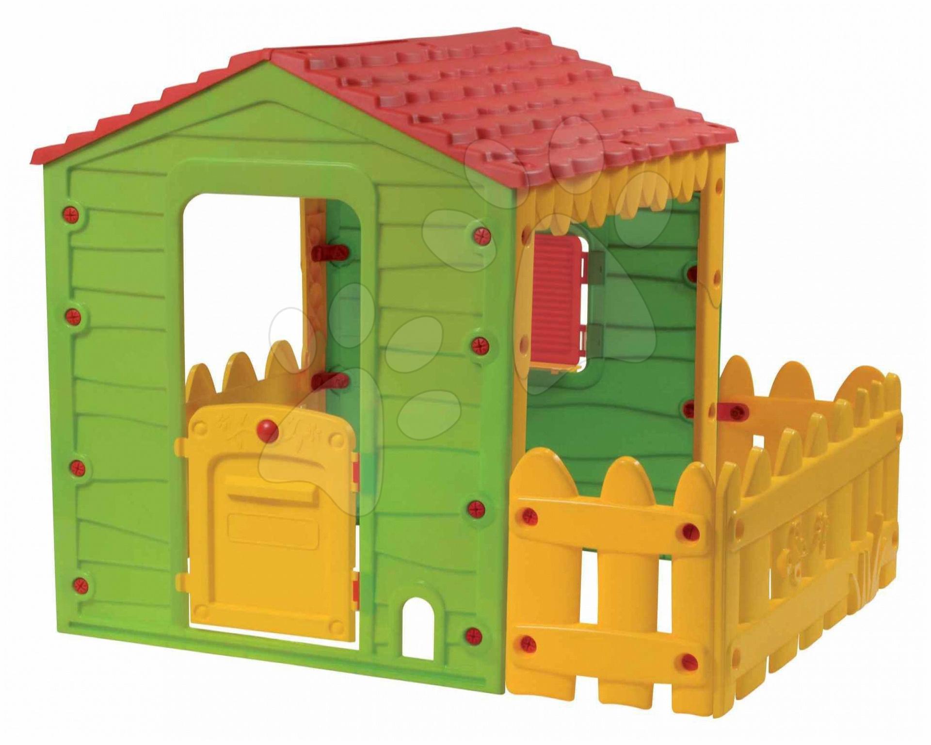 Domčeky pre deti - Domček Farm House Starplast s plotom od 24 mes